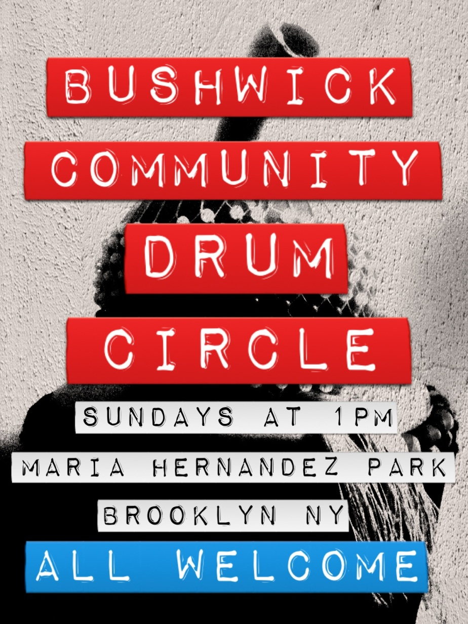 Upcoming Drum Circle featured in Top 5 Events for a Bushwick Brainiac on BushwickDaily.com