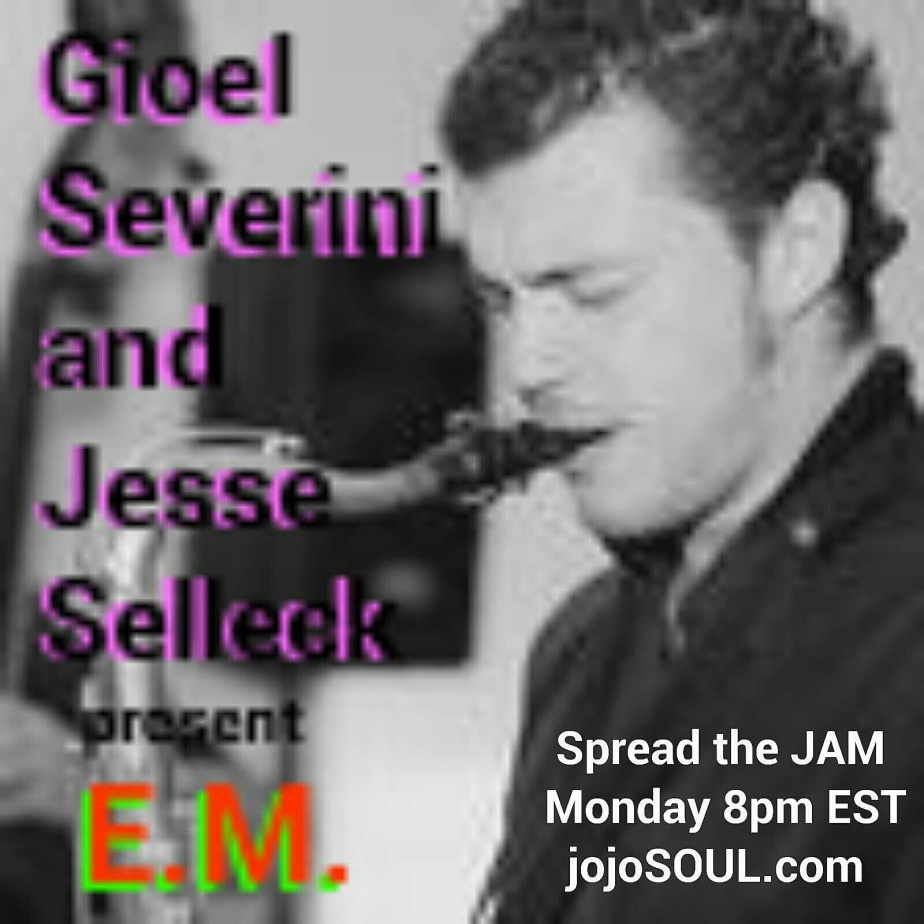 "Monday 1/28/13 on Spread the JAM: LIVE Sax and Drums with ""E.M."", jojo Selects Stevie Wonder"
