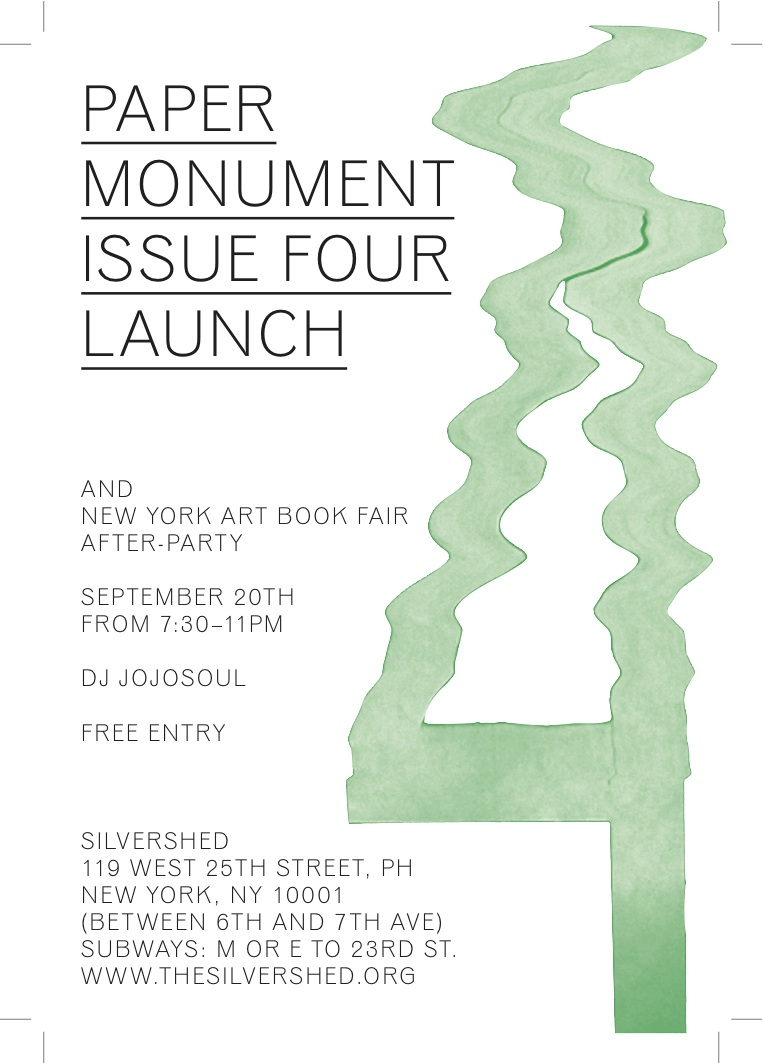 Paper Monument Number Four LaunchParty
