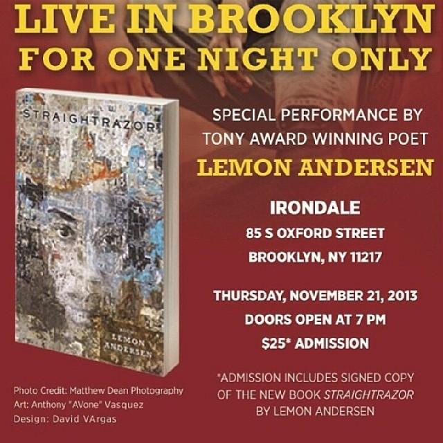 BrooklynPoets.org presents Lemon Andersen LIVE