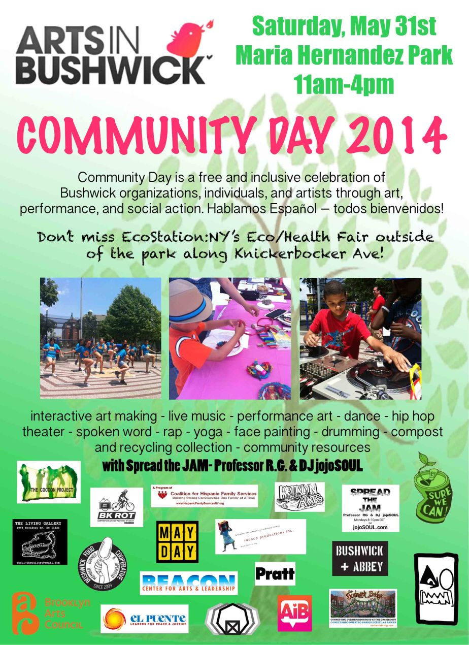 5/31/14- ArtsInBushwick presents Community Day 2014 for BOS2014