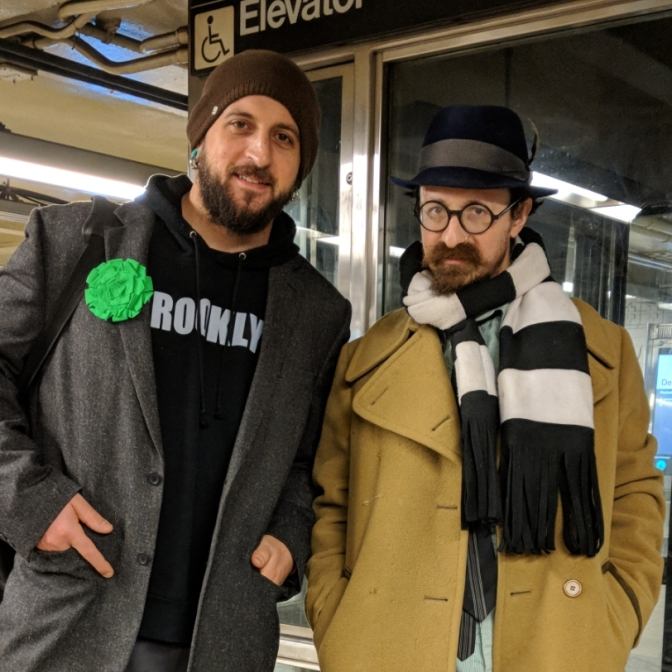 Musical Reunion!  Performing with Matt Dallow at No Pants Subway Ride 2018