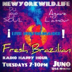 "4/3/18 ""FRESH BRAZILIAN"" Radio Happy Hour Tuesdays with Agave L'amour"